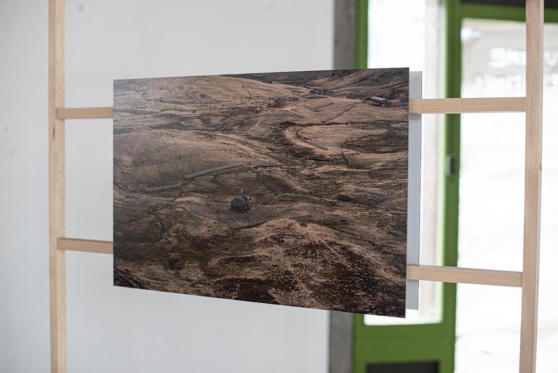 Prat de bouc, vue sur la station, photographie sur dibond sur chassis en bois